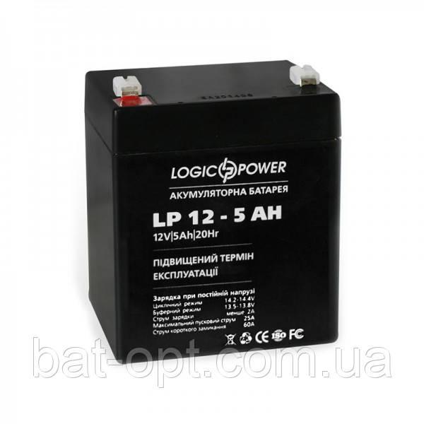 Аккумуляторная батарея Logicpower 12V-5Ah LPM свинцово-кислотный