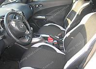 Чехлы на сиденья Ниссан Жук (чехлы из экокожи Nissan Juke стиль Premium)