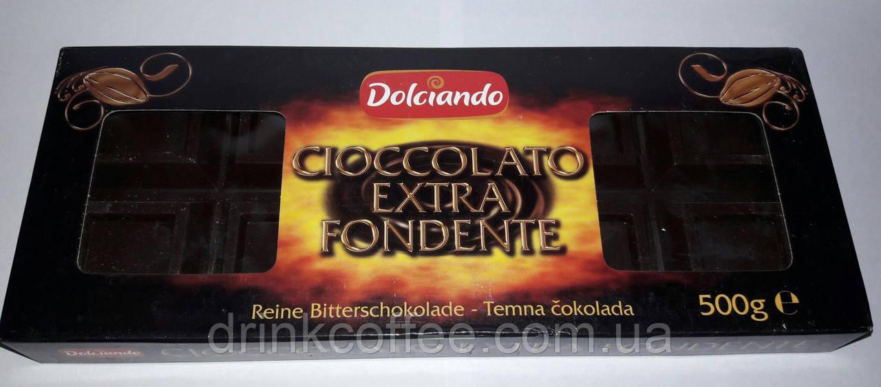 Шоколад черный Dolciando, Cioccolato extra Fondente, Италия, 500 г