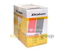 Витая пара Dialan UTP cat5E 4PR CCA, 0,48мм PVC Indoor
