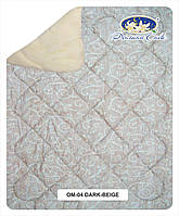 Одеяло меховое из овечьей шерсти в бязи 100x140 см