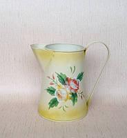 Лейка-молочник св.желтый с росписью