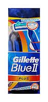 Одноразовые бритвы Gillette Blue II Plus (8+2 в подарок) - 10 шт.