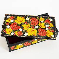 Украинский сувенир. Шкатулка для украшений Калиновая феерия