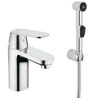 Смеситель для умывальника с гигиеническим душем Grohe Eurosmart Cosmopolitan 23125000