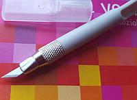 Нож макетный малый трафаретный для тонких работ+лезвия размер S