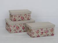 Корзина короб Цветы с крышкой, размер L