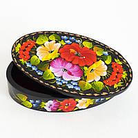 Украинские сувениры. Шкатулка деревянная. Цвет калины