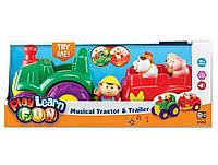 Keenway Play Learn Трактор музичний+трейлер з тваринам