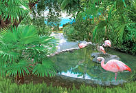 Фотообои Ника Розовы фламинго 140х196