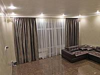 шторы и тюль в зале