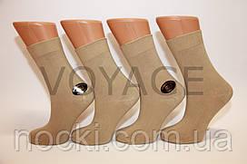 Женские носки высокие стрейчевые гладкие STYLE 35-38 бежевый
