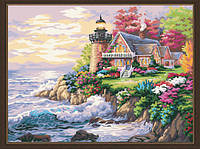 "Картина раскраска по номерам на холсте ""Маленький маяк у дома"", MG115, 40х50см, фото 1"