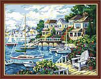 """Картина раскраска по номерам на холсте """"Тихая гавань"""", 40х50см (MG210, КН210), фото 1"""
