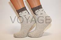 Стрейчевые женские льняные носки