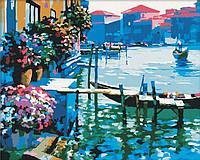 """Картина раскраска по номерам на холсте 40*50 см """"Утро в Венеции"""" Идейка"""