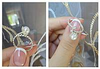 Серебряное кольцо с висящей жемчужиной, фото 1
