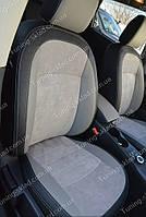 Чехлы на Ниссан Кашкай +2 (авточехлы Nissan Qashqai +2, Lether style)