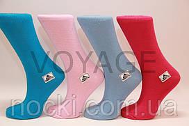 Женские носки высокие стрейчевые гладкие Стиль 23-25 яркие ассорти