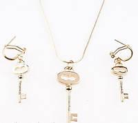 Набор подвеска и серьги ключи