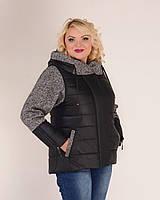 Куртка женская с твидом, фото 1