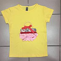 Детская одежда оптом Футболка для девочек-подростков оптом р.9-13 лет, фото 1