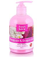 """Крем-мыло """"Франжипани и Драконов фрукт""""    ТМ """" Fresh juice"""", 460 мл."""