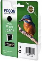 Фото черный картридж epson t 1591 (c13t15914010) photo black