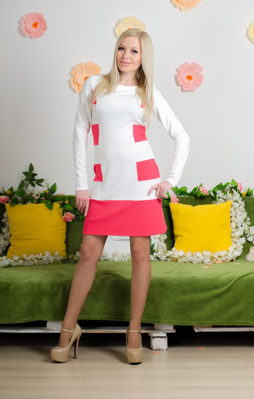 Модельное  платье коралл
