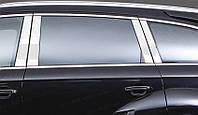 Audi Q7 2005-2015 гг. Молдинги дверных стоек (нерж.)