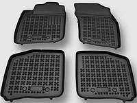 Volkswagen Caddy 2004-2010 гг. Резиновые коврики с бортом (4 шт, RezavPlast)
