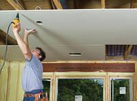 Простой подвесной потолок из гипсокартона