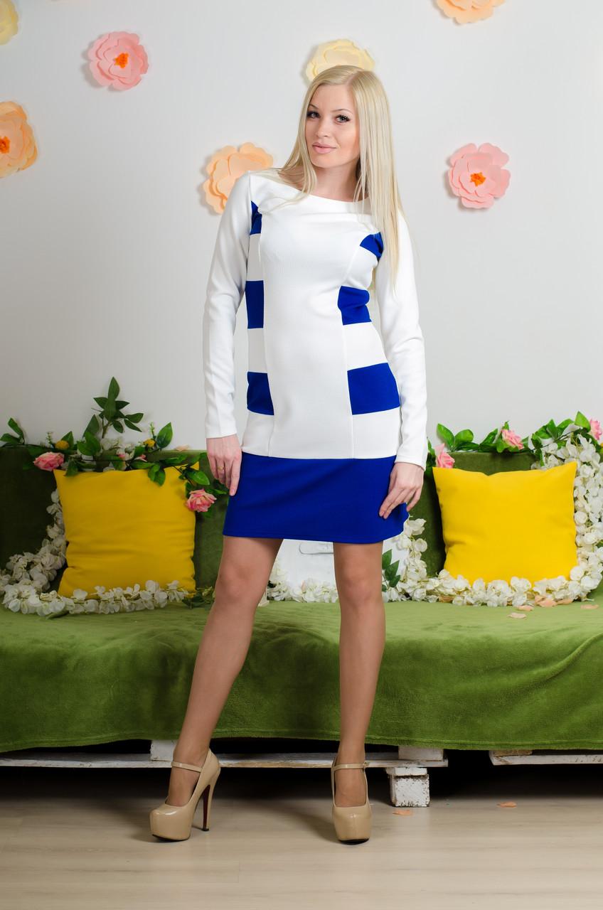 Модельное  платье электрик