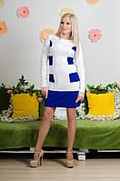 Модельное  платье электрик, фото 1