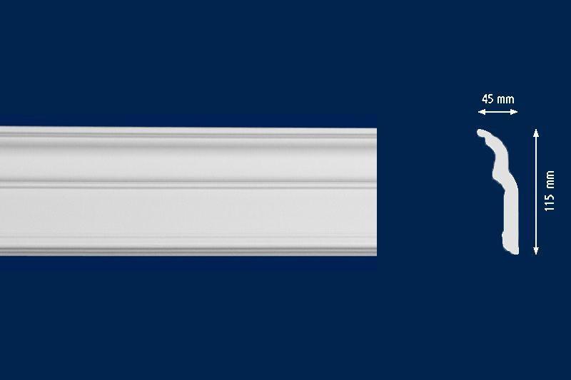 Потолочный плинтус D120