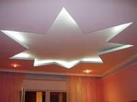 Конструкция подвесного потолка из гипсокартона с подсветкой