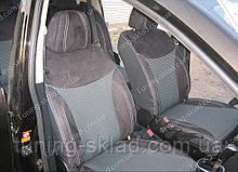 Чохли на сидіння Ніссан Тііда хетчбек (чохли з екошкіри Nissan Tiida 5D стиль Premium)