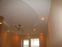 Потолки подвесные из гипсокартона в квартире студия