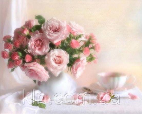 Алмазная вышивка Чайные розы KLN 30 х 24 см (арт. FS114) DIY