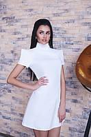 Платье Стильное рукав Амазонка цвет белый