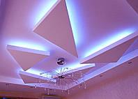 Подвесной потолок из гипсокартона и двух уровнях