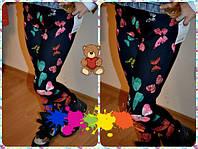 """Трикотажные детские лосины """"Весна"""" с узором (2 цвета)"""