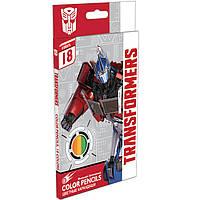 """Карандаши цветные ПЛК TRBB-US1-P-18 18цветов """"Transformers"""" с карт/европодвесом, дерево - тополь"""