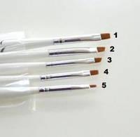 Кисть для нанесения хны - 1 шт, белая ручка