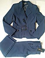 """Теплые школьные брюки для девочки """"Натали"""" на флисе"""