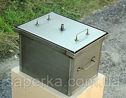 Домашняя коптильня горячего копчения с гидрозатвором (400х310х280x1,5мм), фото 2