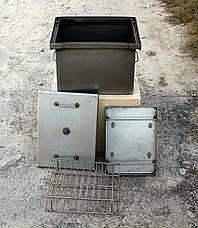Домашняя коптильня горячего копчения с гидрозатвором (400х310х280x1,5мм), фото 3