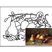 "Набор живопись юнного художгика Етюд GPA283211 30х40 с контуром ""Натюрморт"" №11 хлопок, акрил"