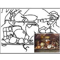 "Набор живопись юнного художгика Етюд GPA283213 30х40 с контуром ""Натюрморт"" №13 хлопок, акрил"