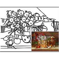 "Набор живопись юнного художгика Етюд GPA283214 30х40 с контуром ""Натюрморт"" №14 хлопок, акрил"